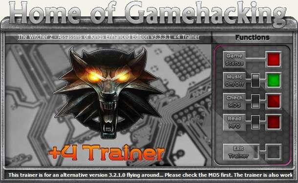 The Witcher 2: Assassins of Kings Enhanced Edition v3.3.3.1 GOG +4 Trainer [HoG]