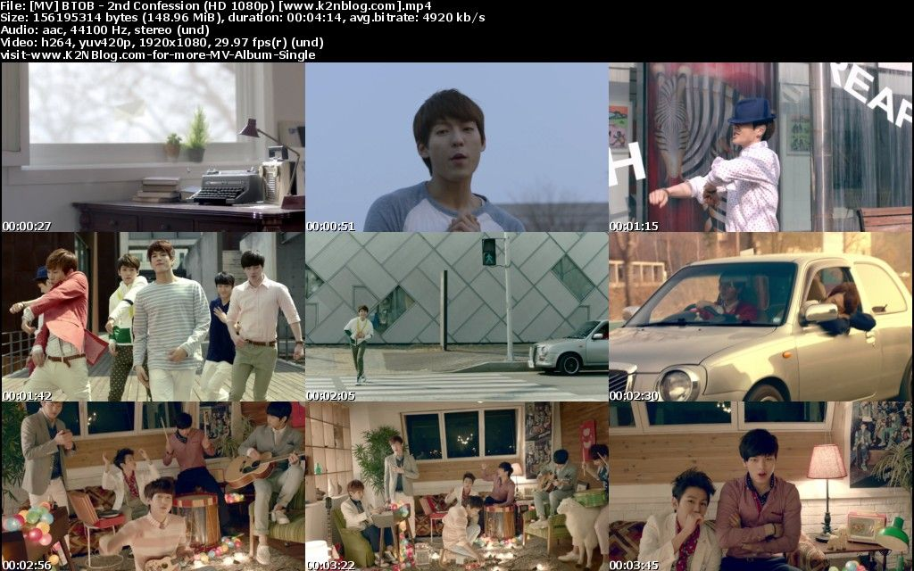 [MV] BTOB   2nd Confession [HD 1080p Youtube]