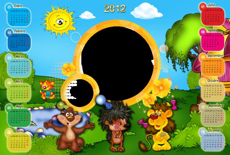 Descargar Calendarios 2012 en PSD Para Niños ( Para Insertar Fotos ...
